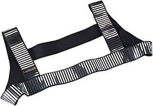 IYUNYI Men's Nylon Camouflage Rivet Chest Body Harness Belt Straps Club Wear Costume