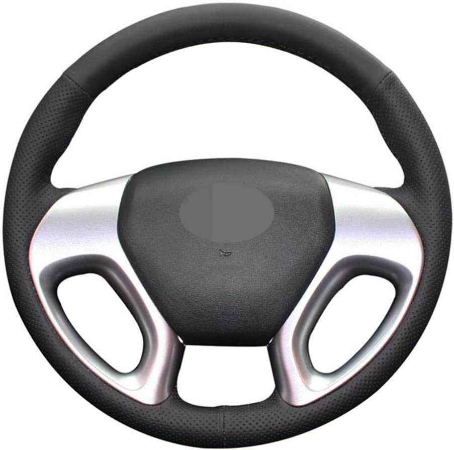 Hand-Stitched shop Black Leather Car Steering Mail order cheap Hyundai for Wheel Cover