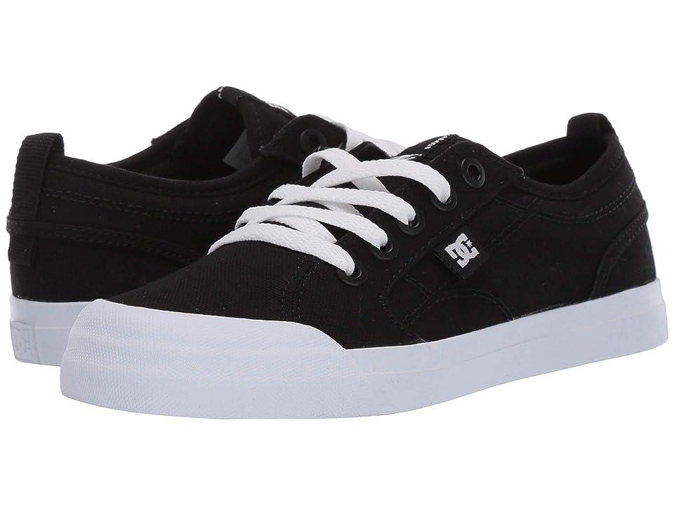 DC Kids Evan TX (Little Kid/Big Kid) (Black/White) Boys Shoes