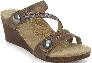 Lydia Adjustable Slide Wedge Sandals