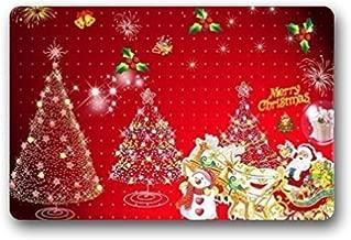 """Bernie Gresham Christmas Santa Claus' Reindeer Snowman Non-slip door mat Custom Doormat Indoor/Outdoor Personalized Doormat 18"""" x 30"""""""