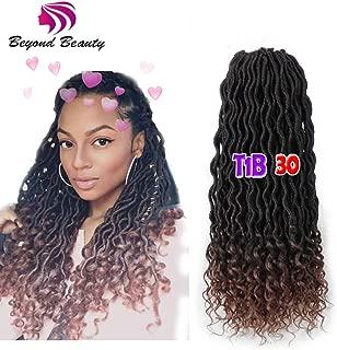 Wavy Faux Locs Crochet Hair Curly Ends Synthetic Braiding Goddess Hair Extensions 6Pcs/Lot. (T1B-30)