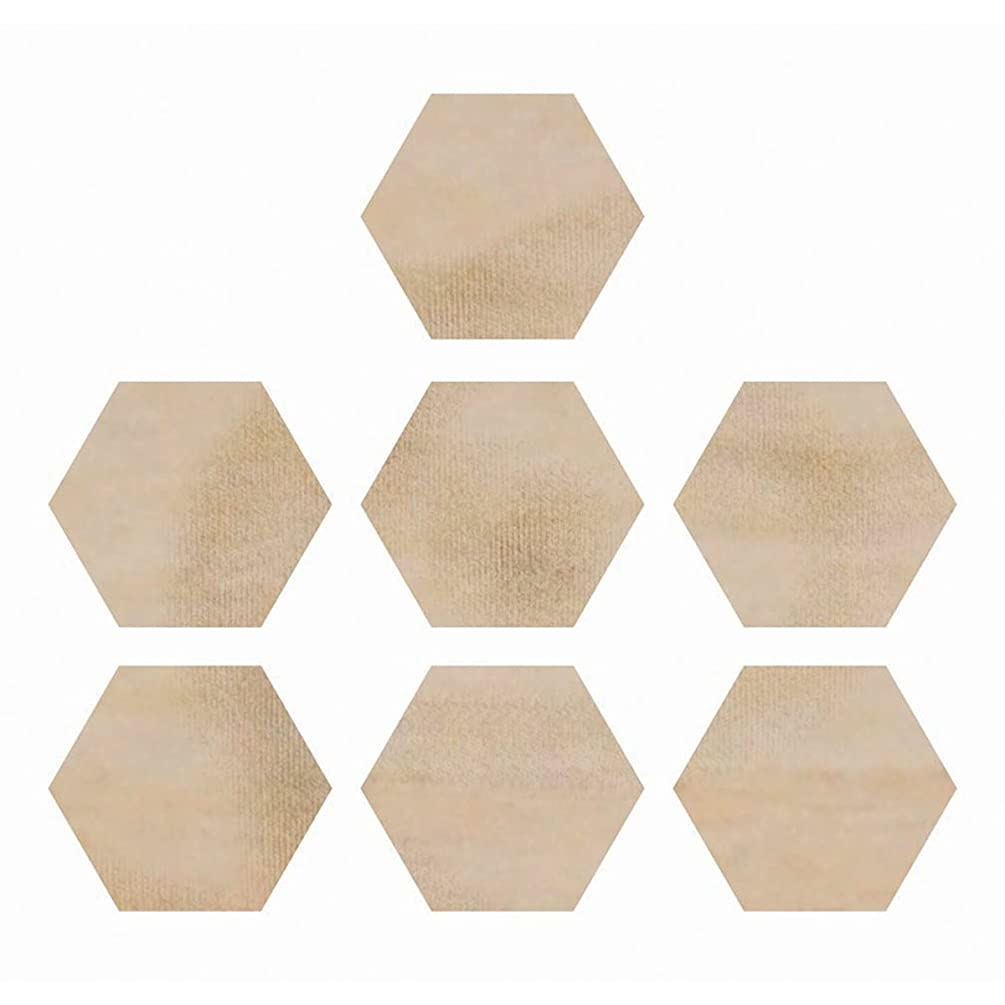 Kaisercraft Wood Flourishes Hexagons Craft Supply, 7/Pack