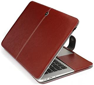 "Bpowe Apple Macbook Air 13インチ ケース PU レザー 薄型 防塵 耐摩擦 耐汚れ ファッション ブック型 ノートパソコン 収納 持ち運び ケース 生涯保障 (Air 13"" 13.3"", ブラウン)"