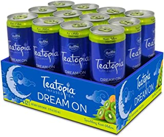 Teatopia Functional Dream On, Sleep Support with Melatonin, L- Theanine & Magnesium, Kiwi Melon, 12 Ounce, Pack of 12