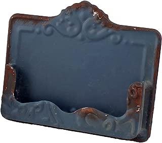 Pressed Metal Vintage Business Card Holder (Blue)