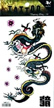 PP TATTOO 1 Sheet Chinese Dragon Kung Fu Tattoos Body Art Stickers Color Flash Fake Waterproof Tattoo Stickers for Women Men