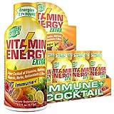 (12 Pack) VitaminEnergy™ Extra Immune+ Energy Shots, Last up to 7+ Hours. Citrus Energy Drink...