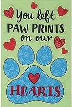 Custom Decor 4077FM Paw Prints Applique Garden Flag Pet Memorial