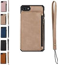 背面ファスナーポケット iphone12 iphone12mini iphonese iphone11 iphone8 iphone12pro iphone 背面ポケット ファスナー iPhoneSE(第2世代)/8/7 ライトブラウン
