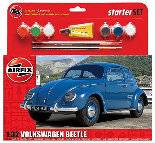 Airfix - Kit Mediano con Pinturas, Coche VW Beetle (Hornby A55207)