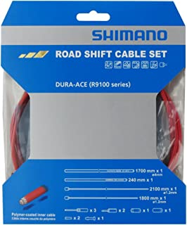 Shimano Dura-Ace R9100 SP41 Polymer-Coated Derailleur Cable Set, Red