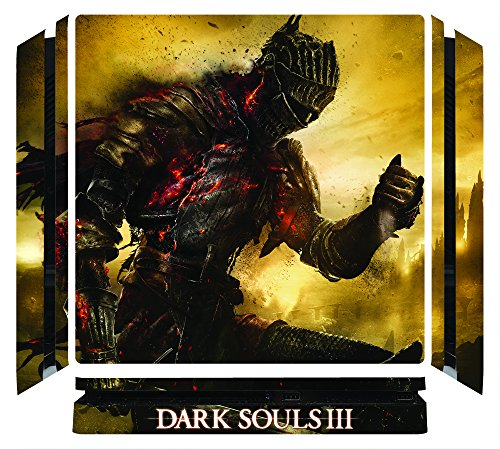 Dark Souls III 3 DS3 Game Skin for Sony Playstation 4 Slim - PS4 Slim Console
