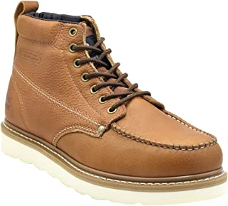 King Rocks Men's Moc Toe Construction Boots Work Shoes