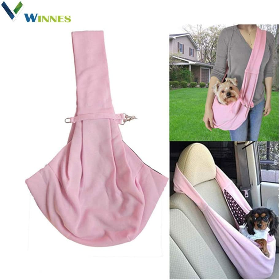 Winnes Hands-Free Fixed price Super-cheap for sale Reversible Small Dog Cat Carrier Tra Bag Sling