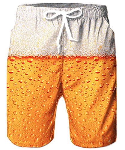 TUONROAD Mens Funny Swim Trunks Quick Dry Beachwear Sports Running Swim Board Shorts Mesh Lining