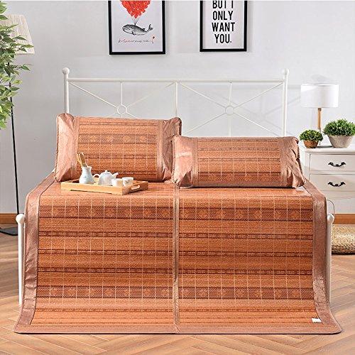Esterilla de verano juego de colchón Plegable Tres Conjuntos de Bambú Grueso Plus Alfombrillas de Aire Acondicionado Alfombras de Sudor Pad 1.8*2m