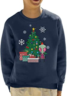 Cloud City 7 Invader Zim Around The Christmas Tree Kid's Sweatshirt