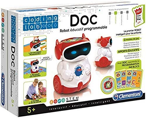 Clementoni 52252 Doc Robot Éducatif Parlant Programmable (Version française)