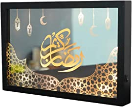 SOLUSTRE Mubarak Ramadan Eid Lamp Kinderen Nachtverlichting Voor Slaapkamer Zwart Muurschildering Nachtlampje Diy Maan Hom...