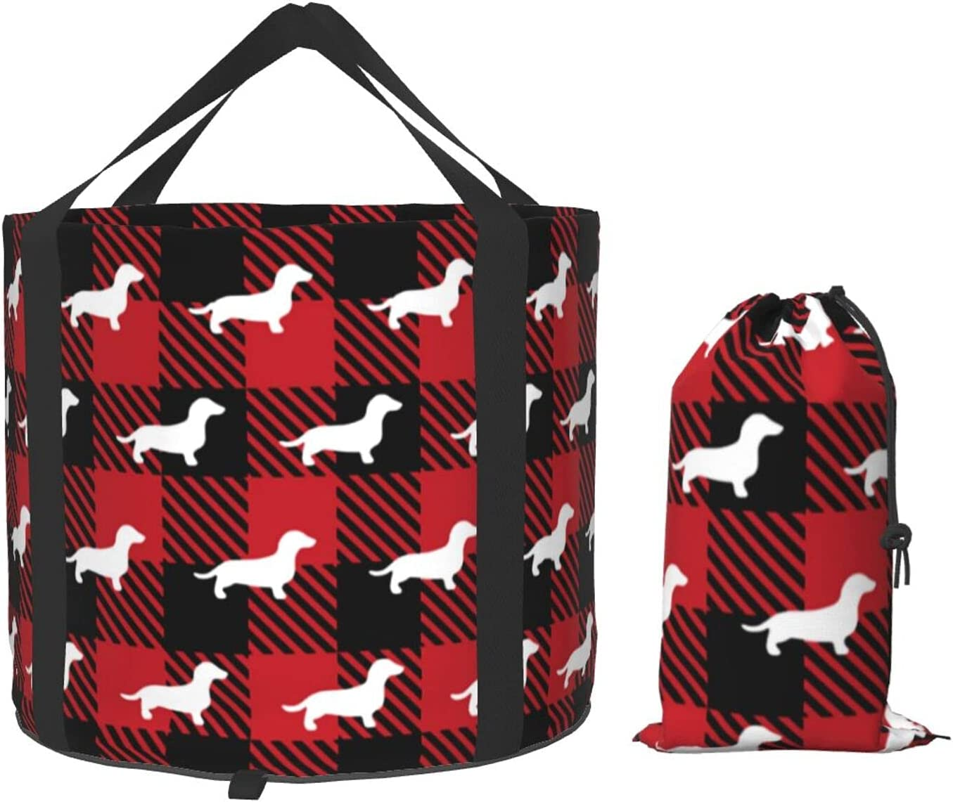 Multifunctional OFFicial site Portable Collapsible Bucket Selling rankings Pl Buffalo Dachshund