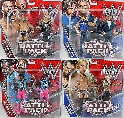 Wrestling Komplett 4er Set WWE Kampf Pack  Serie 46 Actionfigur - Eins Jeder Inklusive