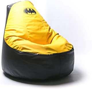 Batman Comics Comfortable Kids Adult Game Outdoor Indoor Lounge Chair Beanbag Cover + Inner Bag (Without Beans) Yellow