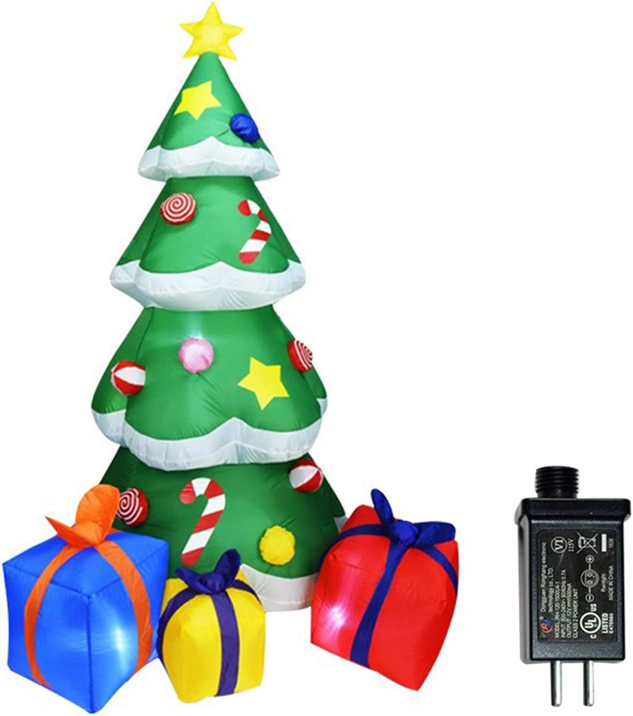 Itlovely 210CM LED San Francisco New arrival Mall Lighting Inflatable Christmas Tree M air Pump