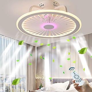 Luz de Techo Ventilador de Techo LED Silencioso Ventilador de Techo Ultradelgado Lámpara de Techo Con Luz Y Mando A Distancia Ventilador Plafones Salón Dormitorio Habitación Para ni?os