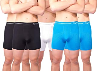 Chaffree Mens Briefs Underpants, Moisture Wicking, Sweat and Chafing Control, Stretchy Seamless, Traditional High Waist Ul...