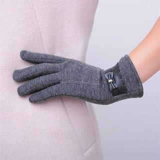 Women Luxury Bowknot Winter Warm Gloves Mittens Elegant Lady Winter Gloves Solid PU Leather Gloves Women Women's Gloves