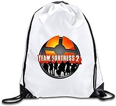 Etryrt Mochilas/Bolsas de Gimnasia,Bolsas de Cuerdas, Coreco Team Fortress 2 Logo Drawstring Backpack Sack Bag