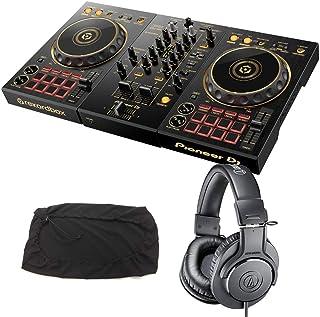 PIONEER DJコントローラー DDJ-400-N + ヘッドホン ATH-M20X + ダストカバー DJセット 《ステッカー&教則動画付き》 ddj pcdj