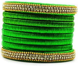 Silk Thread Bangles Set, Trendy & Popular Rhinestone Silk Bangles in