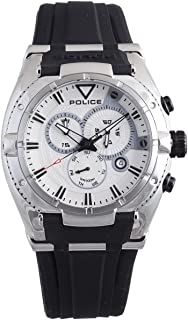 Men's PL-13092JS/04 Raptor Silver Chronograph Day-Date Rubber Watch