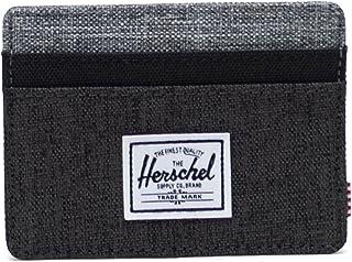 Herschel Charlie RFID, Negro Crosshatch/Black/Raven Crosshatch, Talla única, Charlie RFID para Hombre