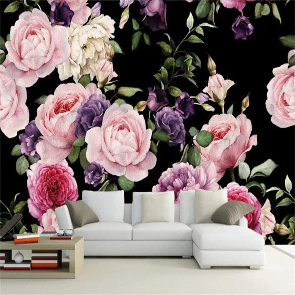 SALENEW very popular Empty Photo Wallpaper 5% OFF 3D Hand-Painted Living Flower Murals Rose
