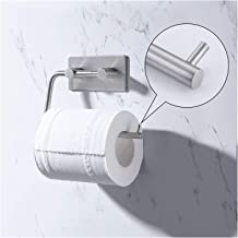 Stainless Steel Self Adhesive toiletrolhouder Stand - Dispenser Tissue Roll Hanger Wall Mount Brushed Finished