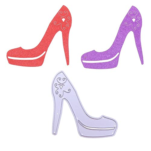 Hongxin Crystal High Heel Shoes Cutting Dies Scrapbooking Metal Stencil DIY Photo Album Decorative Paper