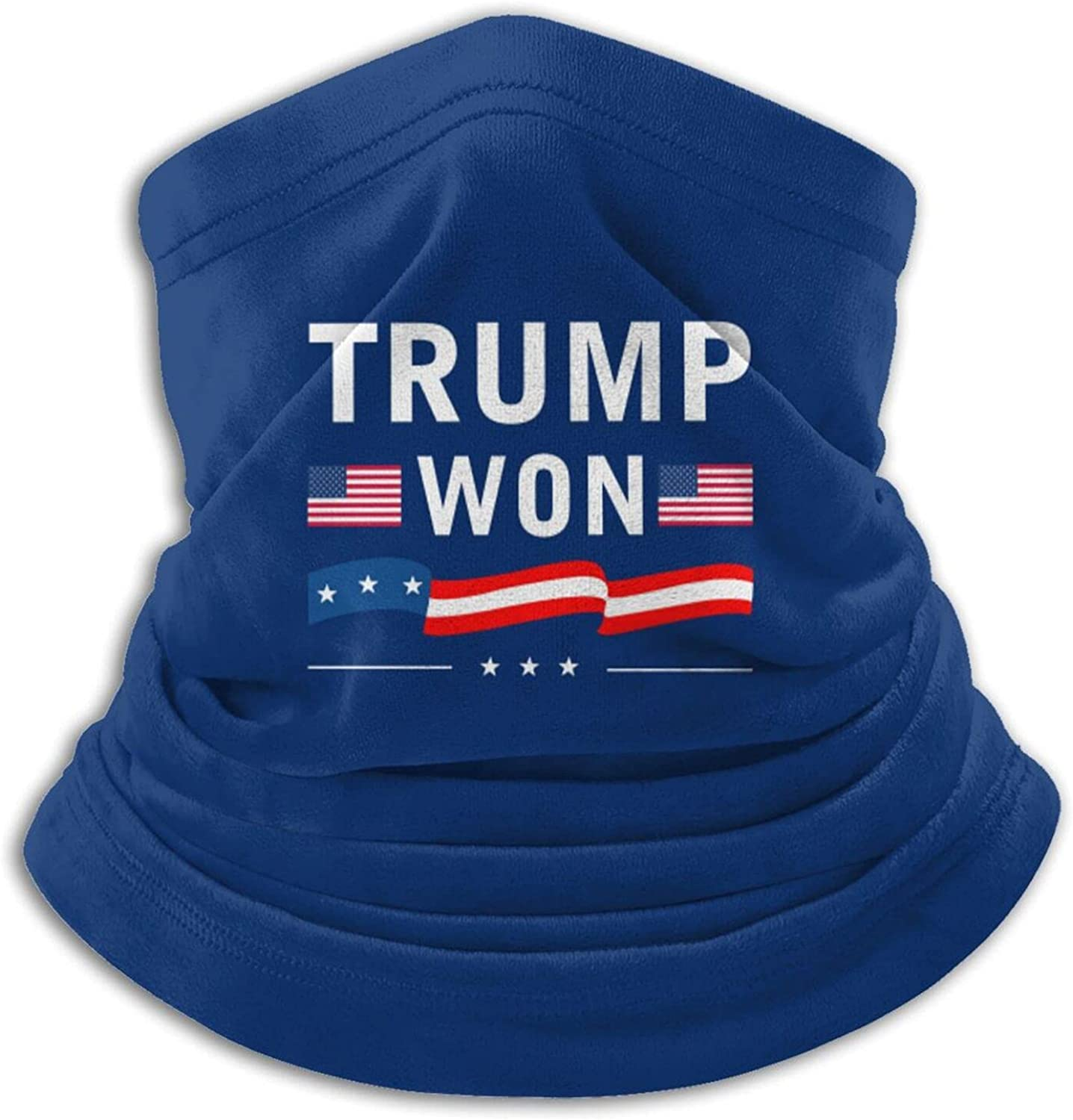 Trump won unisex winter neck gaiter face cover mask, windproof balaclava scarf for fishing, running & hiking