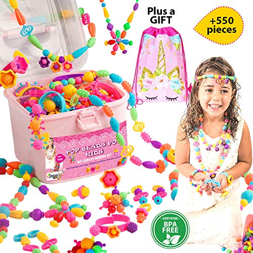 powerful Orian pop beads for kids, a set of over 550, pop beads for girls from 3 years old, …