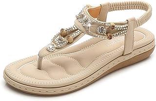 Summer Slippers Women Summer Platform Vintage Sandals Lightweight Beach Pool Indoor Outdoor (Color : Apricot, Size : 35)