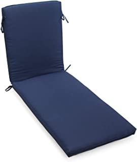 Home Improvements Navy Blue Solid Outdoor Chaise Lounge Cushion Seasonal Replacement Pad