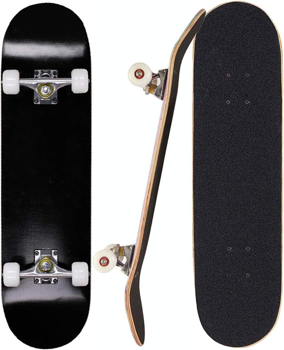 PowerRider Skateboards Standard Skateboards for Kids Boys Girls Youths Adults Beginners Starter-Complete Skate Boards 31''x 8'' Maple Wood Skateboard : Everything Else
