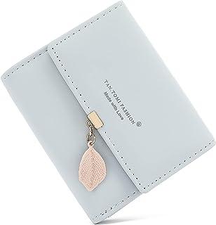 Geldbeutel Damen aus glattem und weichem Kunstleder Geldbörse Damen klein und im Kurzformat Portemonnaie Damen in sehr sch...