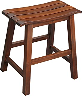 International Concepts Slat Seat Stool, 18-Inch Seat Height, Espresso