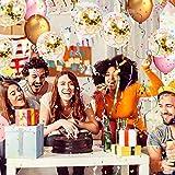 SKYIOL Konfetti Luftballons Gold Helium 50 Stück 30 cm Glitzer Pailletten Latex Ballons für Kinder Mädchen Damen Party Feier Dekoration Hochzeit Geburtstag Valentinstag Brautgeschenke, Set 6 - 6