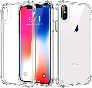 iPhone Xs Max Case, UZER Transparent Enhanced Grip Protective Defender Cover Shock-Absorption Bumper [Crystal Clear] and Anti-Scratch&Fingerprint&Oil Stain Back Cover Case?for iPhone Xs Max 6.5