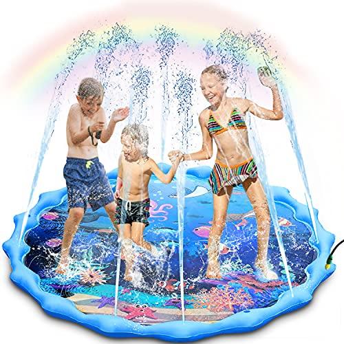 "68"" Inflatable Sprinkler Pad Wading Pool Now $16.89 (Was $69.99)"