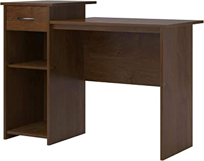 TSR Sturdy Desk with File Storage Drawer, Multiple Function Computer Student Desk, Workstation Desk with Storage, Easy Glide Desk with Drawer, Desk Drawer Organizer with E-Book.
